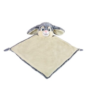 Personalised Bunny Rabbit Baby Blankie - Grey