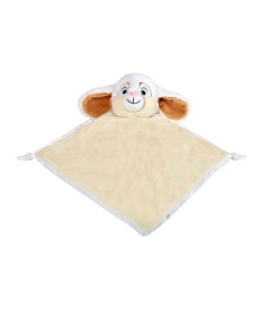 Personalised Bunny Rabbit Baby Blankie - White