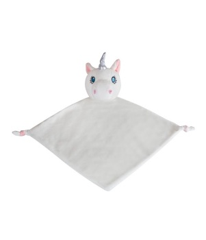 Personalised White Unicorn Baby Blankie