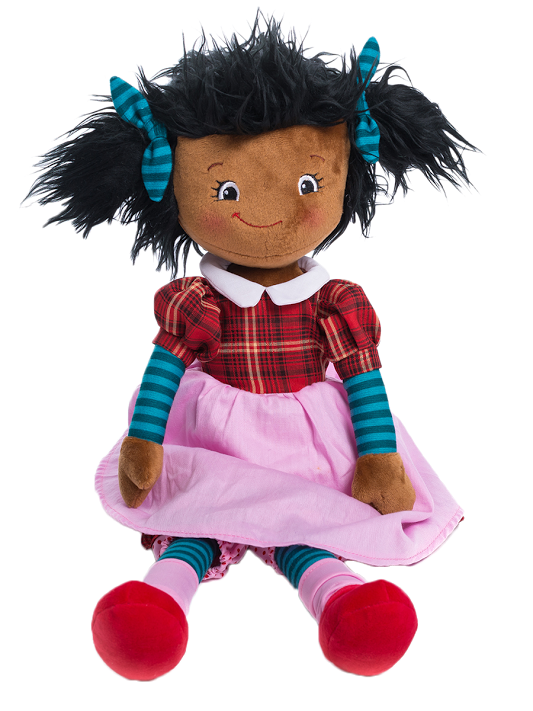 Marcella - Personalised Embroidered Rag Doll