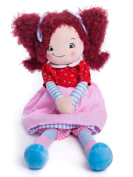 Brigitte - Personalised Embroidered Rag Doll