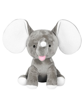 Dumbles - Personalised Embroidered Elephant - Grey