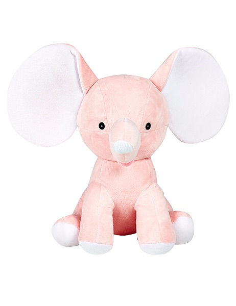 Dumbles - Personalised Embroidered Elephant - Pale Pink
