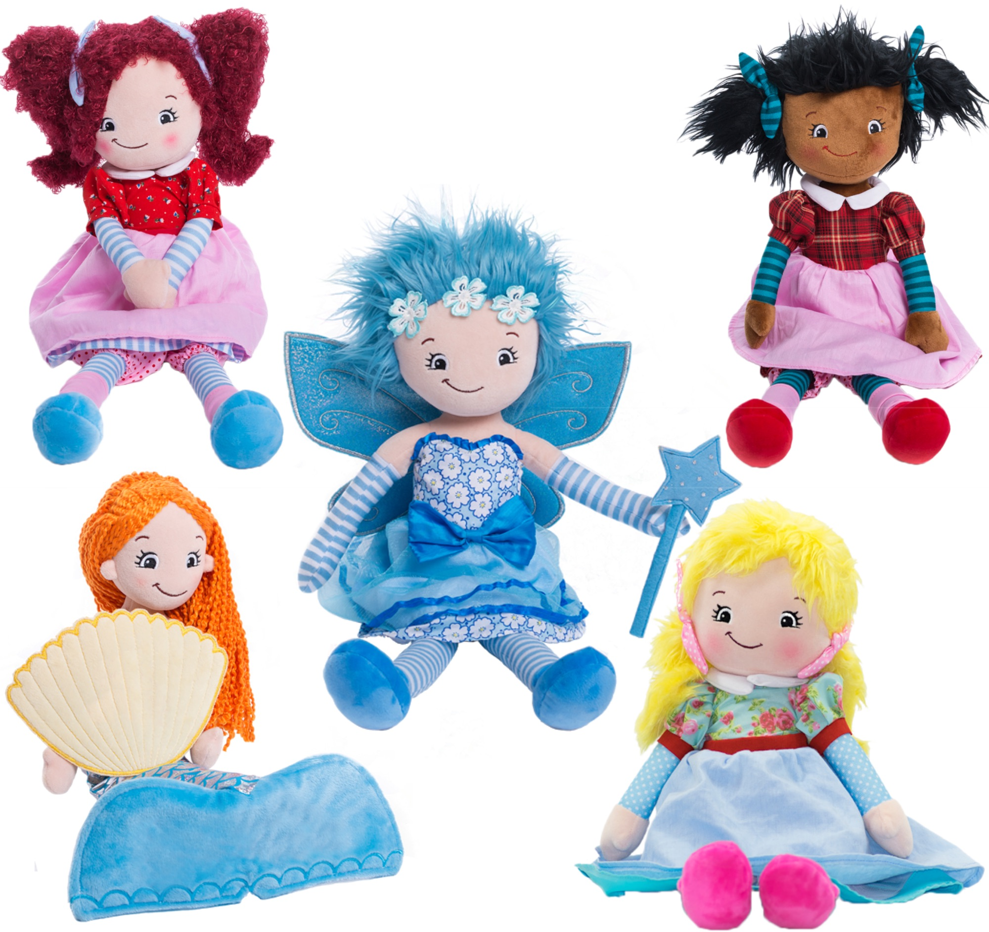Personalised Embroidered Rag Dolls