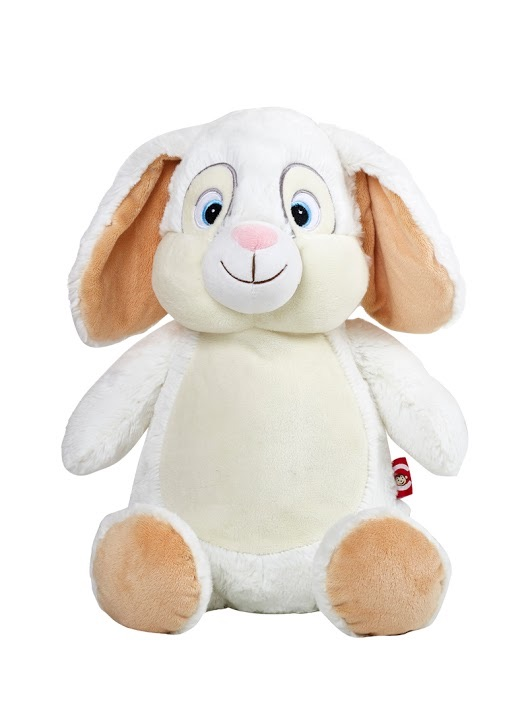 Clovis Brampton Furlong III - Personalised Embroidered Bunny Rabbit - White