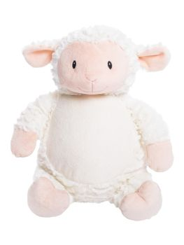 Loverby - Personalised Embroidered Flufy Lamb - White