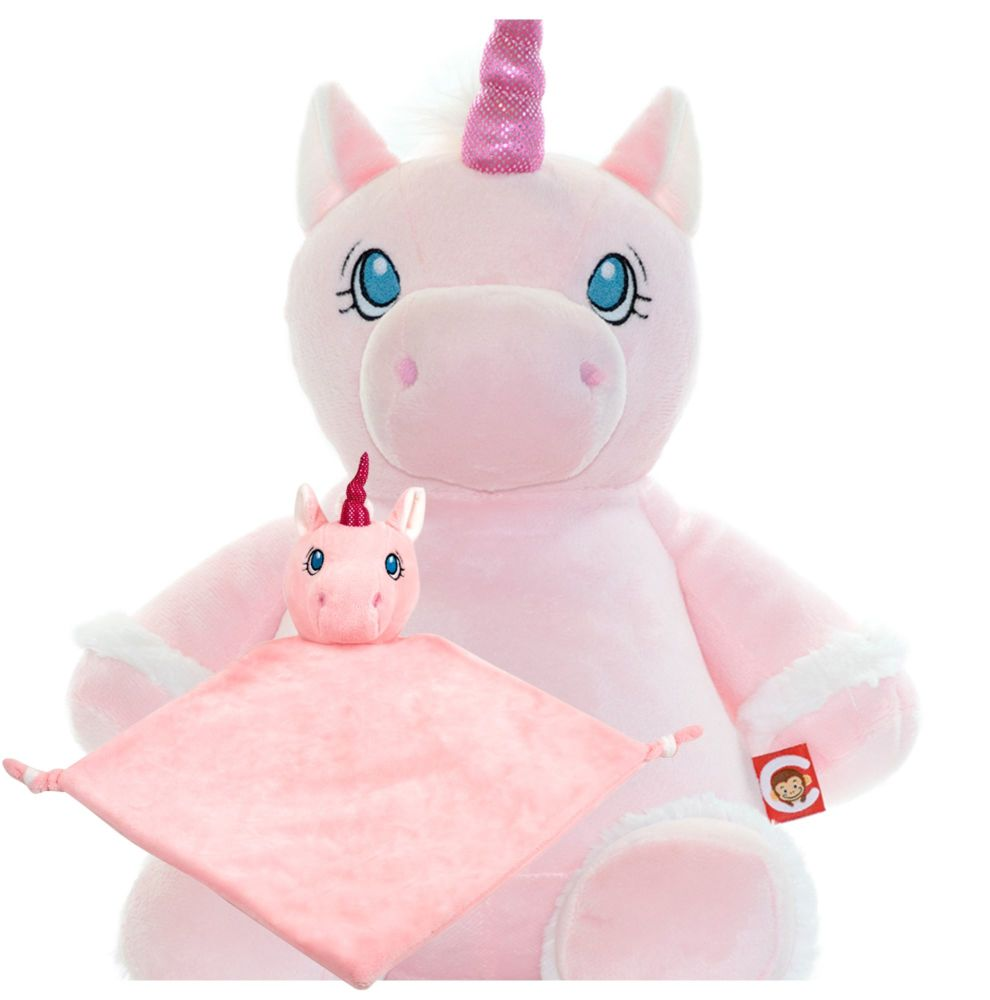 Pink Unicorn & Blankie Set