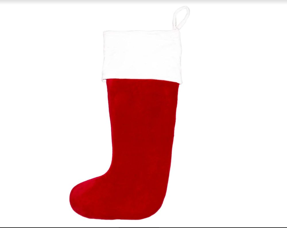 Personalised Christmas Stocking - Red Santa Toe