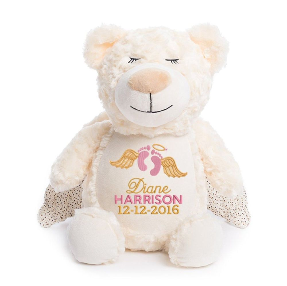Personalised Embroidered Guardian Angel Bear