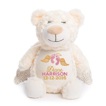 Personalised Embroidered Guardian Angel Memory Remembrance Bear