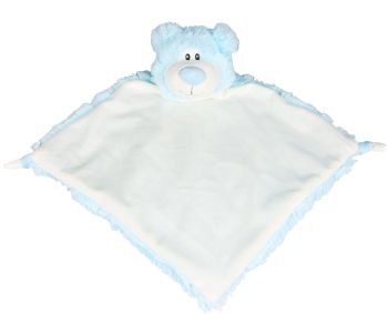 Personalised Bear Baby Blankie - Blue