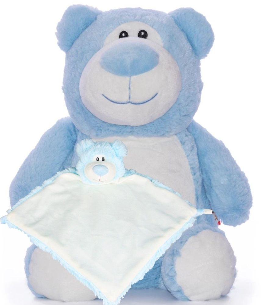 Blue Bear & Blankie Set