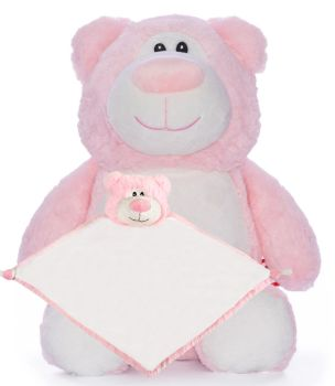 Pink Bear & Blankie Set