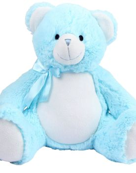 Personalised Embroidered New Baby Blue Teddy Bear