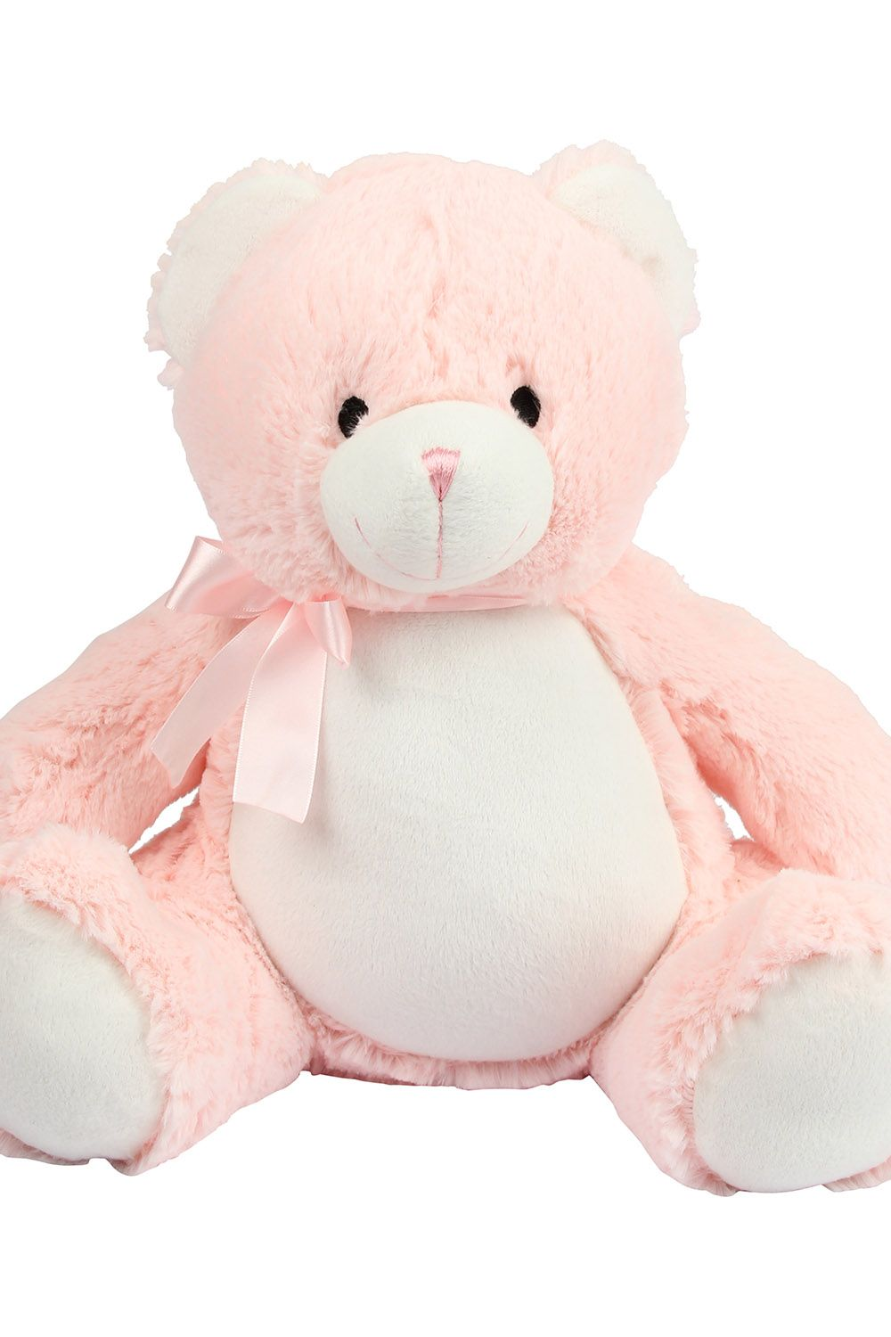 Personalised Embroidered New Baby Pink Teddy Bear