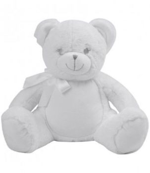 Personalised Embroidered New Baby White Teddy Bear