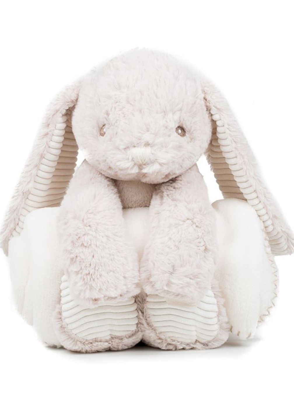 Personalised Embroidered Blanket and Bunny Rabbit Set