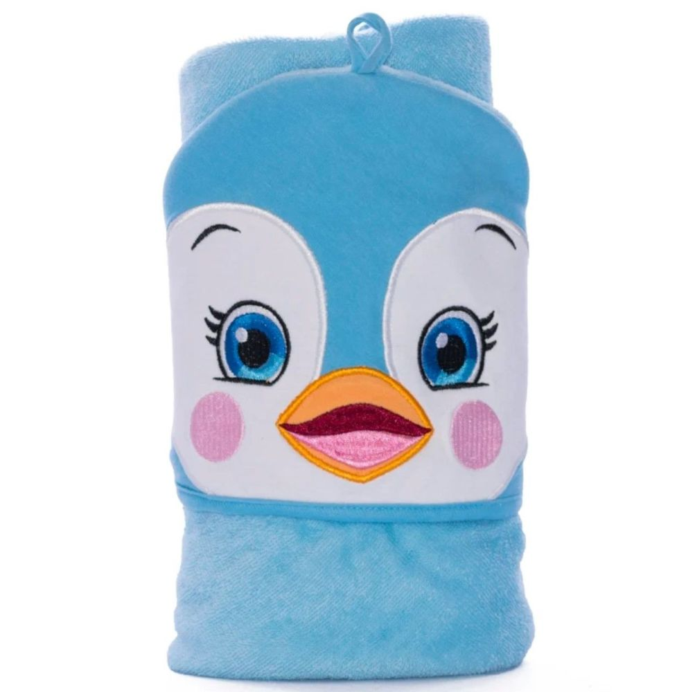 Personalised Embroidered  Penguin Hooded Towel