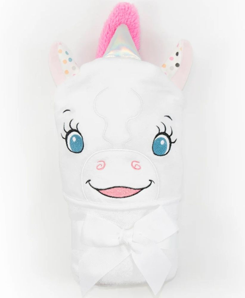Personalised Embroidered  Unicorn Hooded Towel