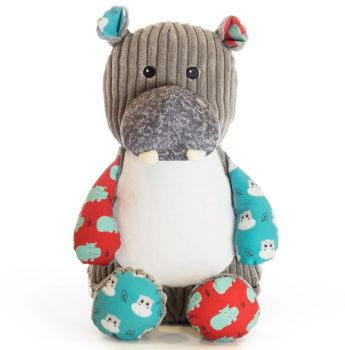 Personalised Embroidered Harlequin Hippo