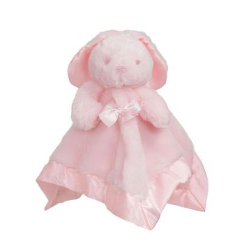 Personalised Pink Bunny Rabbit  Baby Comforter Blankie