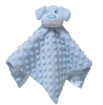 Personalised Blue Puppy Dog Baby Blankie