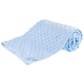 Personalised embroidered blue bubble embossed blanket