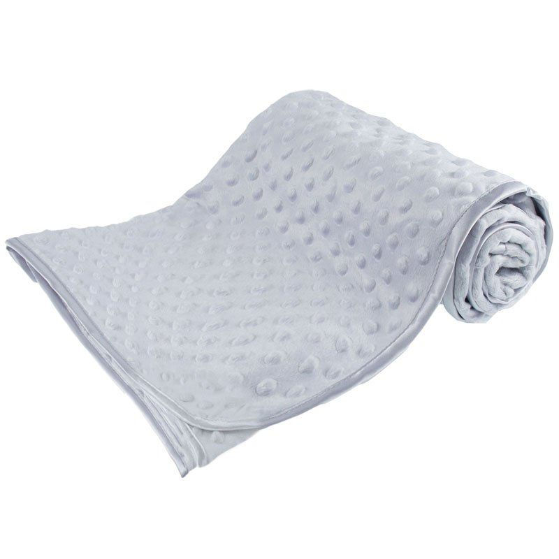 Personalised embroidered grey bubble embossed blanket