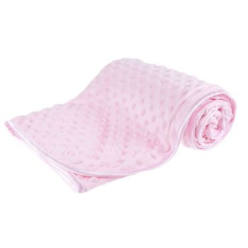 Personalised embroidered pink bubble embossed blanket