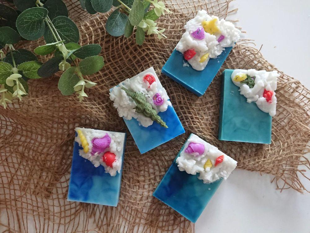 Seashells & Waves Wax Block