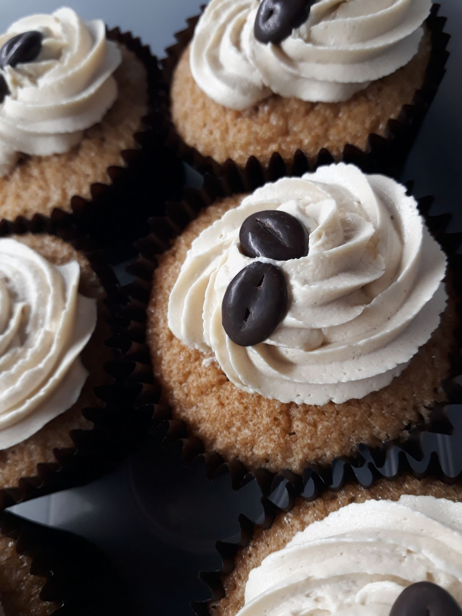 Coffee Cupcakes made with gluten free flour