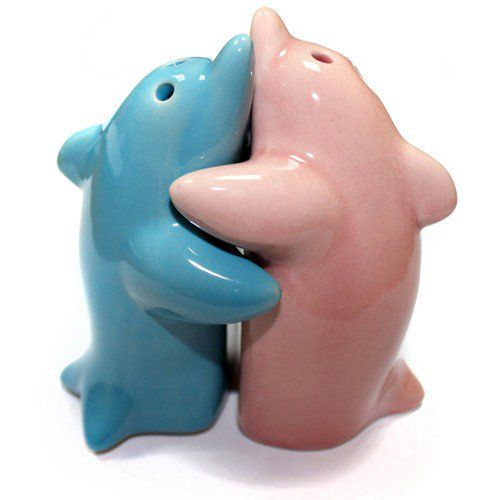 Hugging Dolphins Salt & Pepper Set