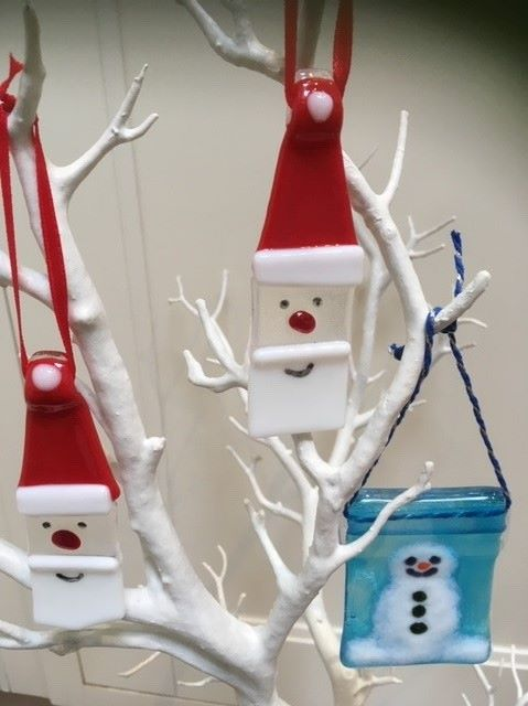Fused Glass Christmas Decoration Class