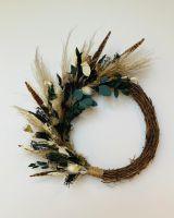 Dried Flower Half Wreath Class