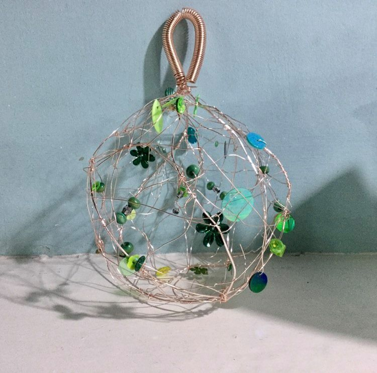 Copper Wire Christmas Bauble