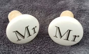 Bottle Stoppers - Mr & Mr, Mr & Mrs or Mrs & Mrs