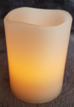 Wax Effect LED Candle with Timer
