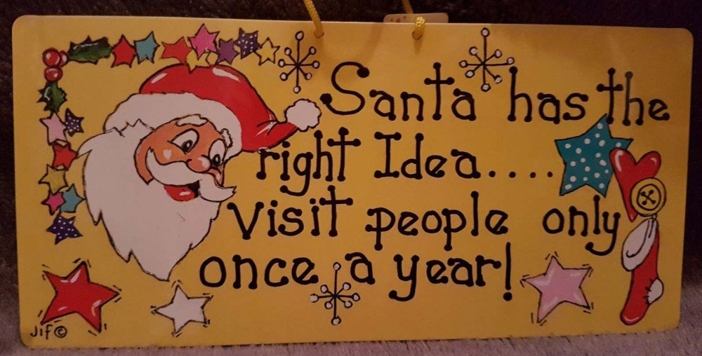 Humerous Christmas Sign (Right Idea)