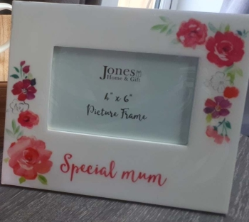 Floral Special Mum Glass Picture Frame