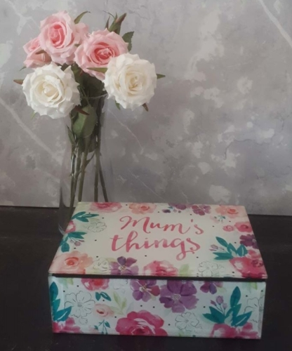 Floral Mum's Things Trinket Box