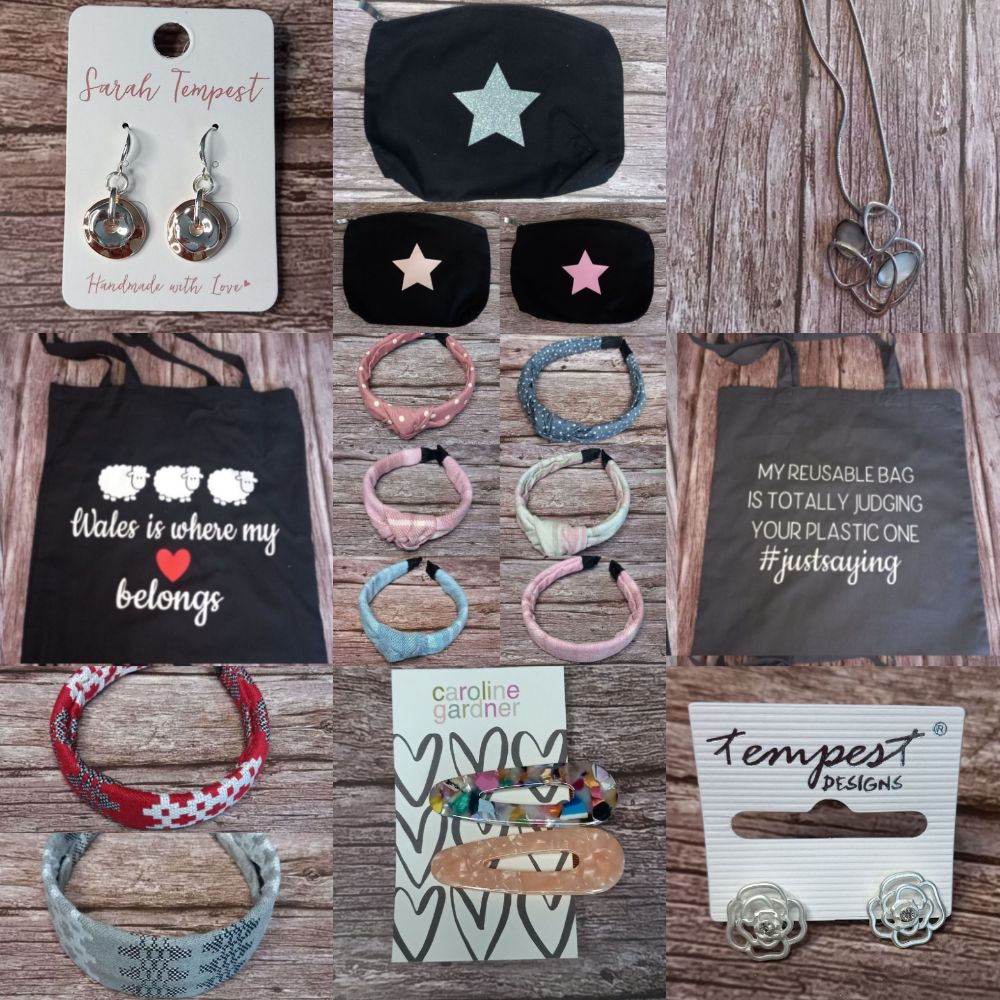 Hair Accessories, Jewellery & Bags