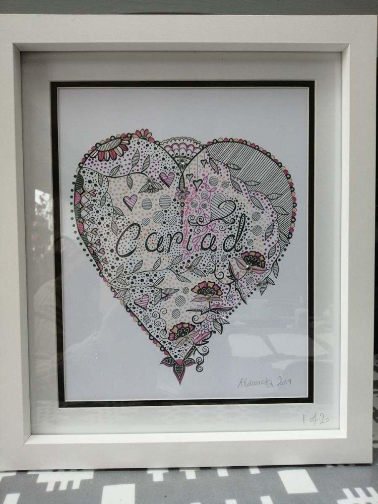 Hand Drawn Print - Cariad