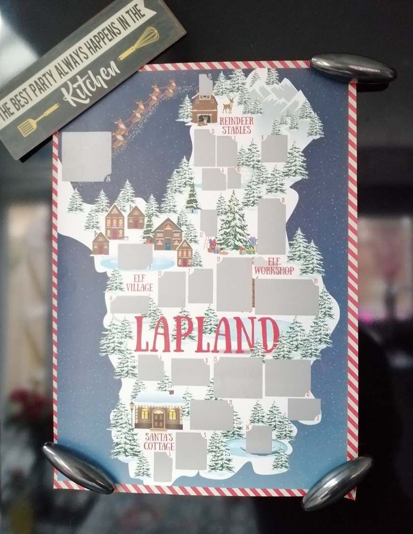 A4 Lapland Scratch Countdown