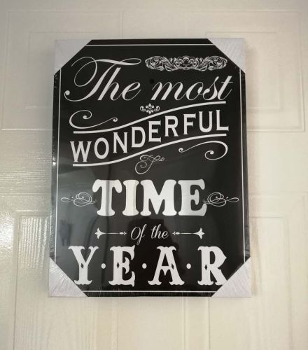 Christmas Mirror Plaque (Black)