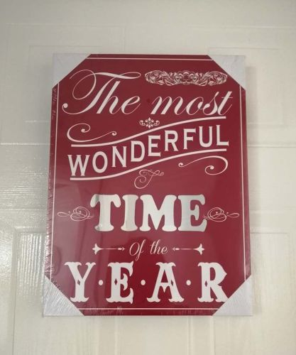Christmas Mirror Plaque (Red)