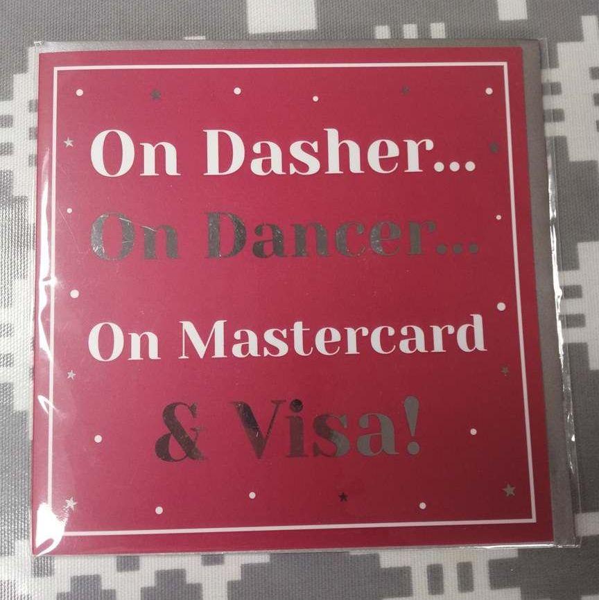Christmas Card - On Dasher