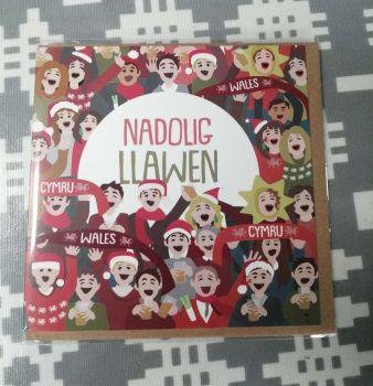 Cerdyn Nadolig Llawen - Welsh Supporters