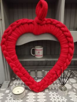 Large Heart Wreath - Red