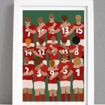 A4 Welsh Team Print