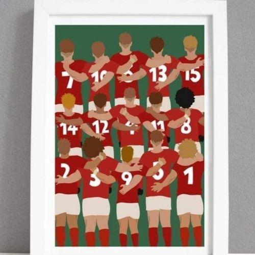 A4 Welsh Team Print
